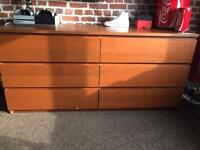 IKEA brown wood chest of draws