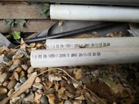 Different sizes PolyPipe Weld Waste Pipe White
