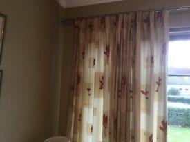 Terracotta & Cream Curtains