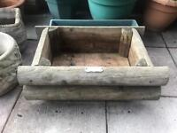 1 x Wooden Planter Plant Pot
