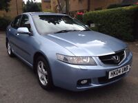 Honda accord 2.4 petrol, Automatic , 2004, very low mileage , black leather interior, fully loaded