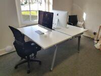 Herman Miller double Abak desk