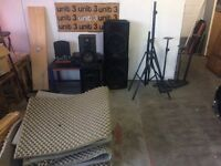 Studio equipment, Speakers, speaker stands, soundproofing, miscellaneous
