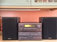 Denon D-65 stereo cassette and receiver
