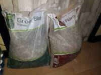 2 bags of gravel and slate