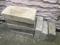 Several 100mm concrete blocks