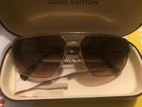 Louis Vuitton gold frame sunglasses