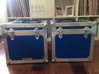 Vinyl LP Record Box Flight Case x 2
