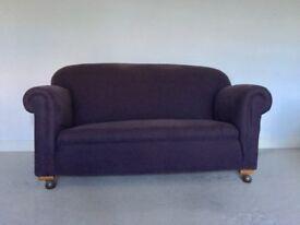 Stunning vintage antique drop arm sofa