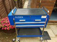 SNAP ON BLUE POINT TOOL BOX TROLLEY.