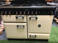 Lovely Rangemaster Elan Range cooker double oven cream and chrome appliance