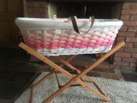 Girls Moses Basket