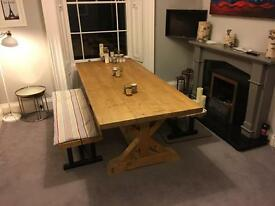Reclaimed Pine Tavern Style Dining Table