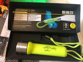LED Lenser D14 Frogman Neon yellow torch