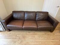 FREE brown 3 seater sofa