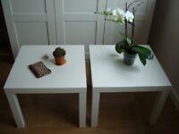 Two Stylish White Large Coffee Tables 55cm(w) x 55cm(d) x 46cm(h)