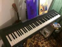 Yamaha P-85 Digital Piano. High quality yet portable. 88 keys midi keyboard in great condition. P85