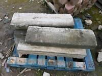 Reclaimed concrete kerbs