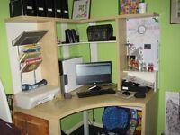 BARGAIN !!! Larger Corner Computer Desk £50 or nearest offer