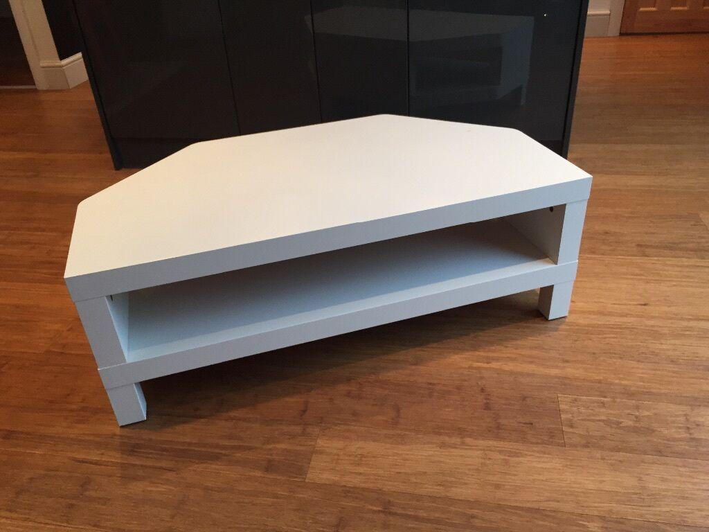 ikea lack corner tv unit in white in rhiwbina cardiff