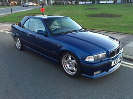 BMW E36 M3 3.0 CONVERTIBLE AVUS BLUE EXCELLENT EXAMPLE WHITE VADER HEATED LEATHER MUST BE SEEN