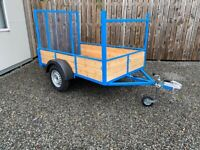 NEW 7 x 4FT 4 CAR TRAILER with Long Tail door ( tractor quad garden lawnmower ride on )