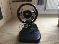 Thrustmaster ferraria vibration GT 458 edition steering wheel