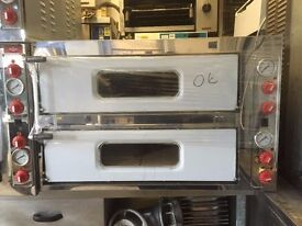 """CATERING COMMERCIAL NEW ITALIAN DOUBLE DECK PIZZA OVEN CAFE RESTAURANT FAST FOOD 8 X 13"""" MODEL"""