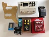 Pedals: Boss RV-6, EHX Micro Pog, JHS Muffuletta,