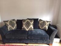Black fabric sofa (Furniture Village Hennessey Range)