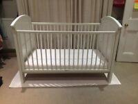 White Cosatto Hogarth 3 in 1 Cot Bed