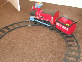 Childrens Chad Valley Powered Ride on Train and Track Set