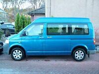 VW T30 T5 2.5 TDI 174bhp Transporter Medium roof Window Van. £7700 no VAT. More info on request