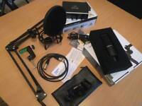 Streaming microphone setup audio technica at2020