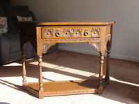 Old Charm Oak Console Table