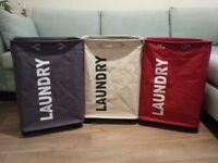 3 EXTRA LARGE 79 litres Laundry Baskets Collector Wenko Quadro £50.00 Kennington SE11 5NG London
