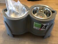 Raised Dog Feeding Bowls Brand New