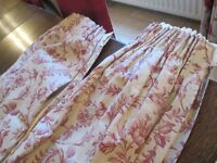 LAURA ASHLEY MATCHING SET! Curtain, Tie Back and Cushion