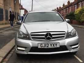 2012 MERCEDES BENZ C CLASS C220 CDI BLUEEFICIENCY AMG SPORT