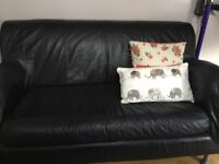 Ikea Black 2 Seater Sofa
