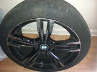 "BMW M6 REPLICA WHEELS FOR SALE .3XRIMS 19""PLUS TYRES.GOOD CONDITION."