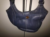 Ladies Clarks grey leather bag