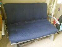 Metal frame sofa bed for sale - collection only