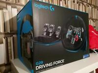 Logitech G29 steering wheel and pedals for PlayStation 3 and 4