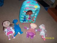 doc mcstuffin trolley case kids plus soft toys as new ng6