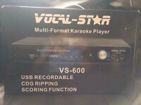 Brand New Unused Mulit format Karaoke Vocal Star VS 600 for sale