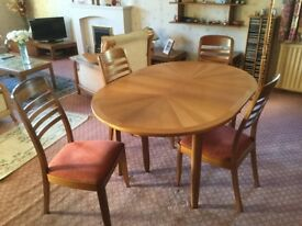 Nathan dining table and chairs..