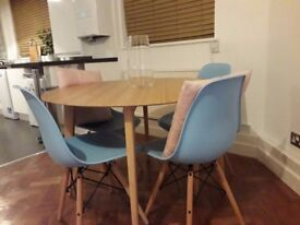 Dining Table + 4 Chairs + Bookcase - 50% off Original Price £140 for All