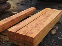Larch Railway sleepers .Untreated sleepers 2.4 m 200x100 £20 each Chessington Surrey