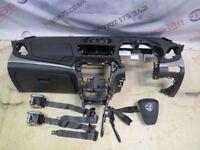 VAUXHALL MOKKA AIR BAG KIT DASHBOARD IN BLACK FRONT SEAT BELTS 2013-16